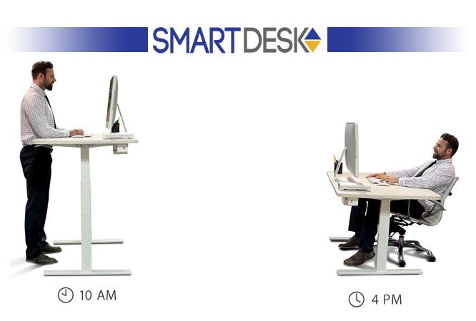 میز هوشمند - smartdesk - میز قابلیت تنظیم ارتفاع - میز تنظیم شونده